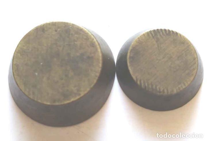Antigüedades: 2 ponderales de vaso - Foto 2 - 195178838