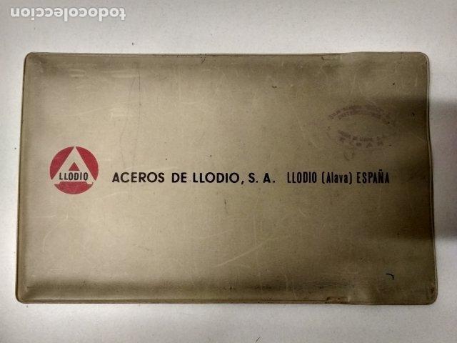 Antigüedades: ANTIGUA REGLA DE CALCULO ACEROS DE LLODIO CON FUNDA - Foto 2 - 195183165