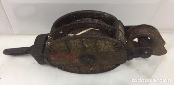 Antigüedades: ANTIGUA Y ENORME POLEA DE BARCO - Foto 14 - 195190858