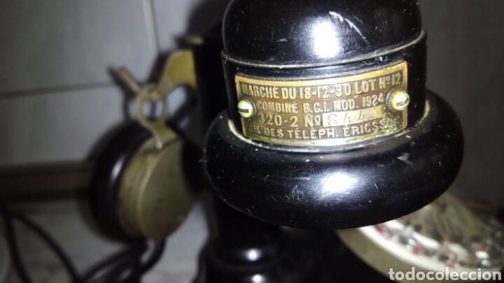 Teléfonos: Antiguo teléfono, Ericsson, Doble Auricular. - Foto 13 - 195213601