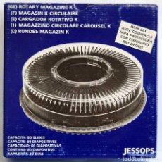 Antigüedades: CARRUSEL CARGADOR CIRCULAR PARA 80 DIAPOSITIVAS + 53 DIAPOSITIVAS DE TEMA DENTISTA. Lote 195223852
