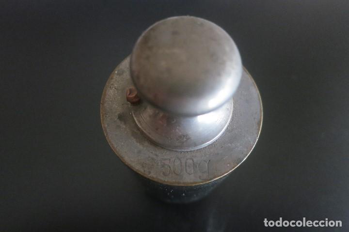 PESA DE 500 GRAMOS DE ACERO (Antigüedades - Técnicas - Medidas de Peso Antiguas - Otras)