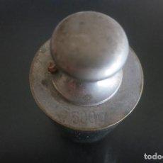 Antigüedades: PESA DE 500 GRAMOS DE ACERO. Lote 195251270