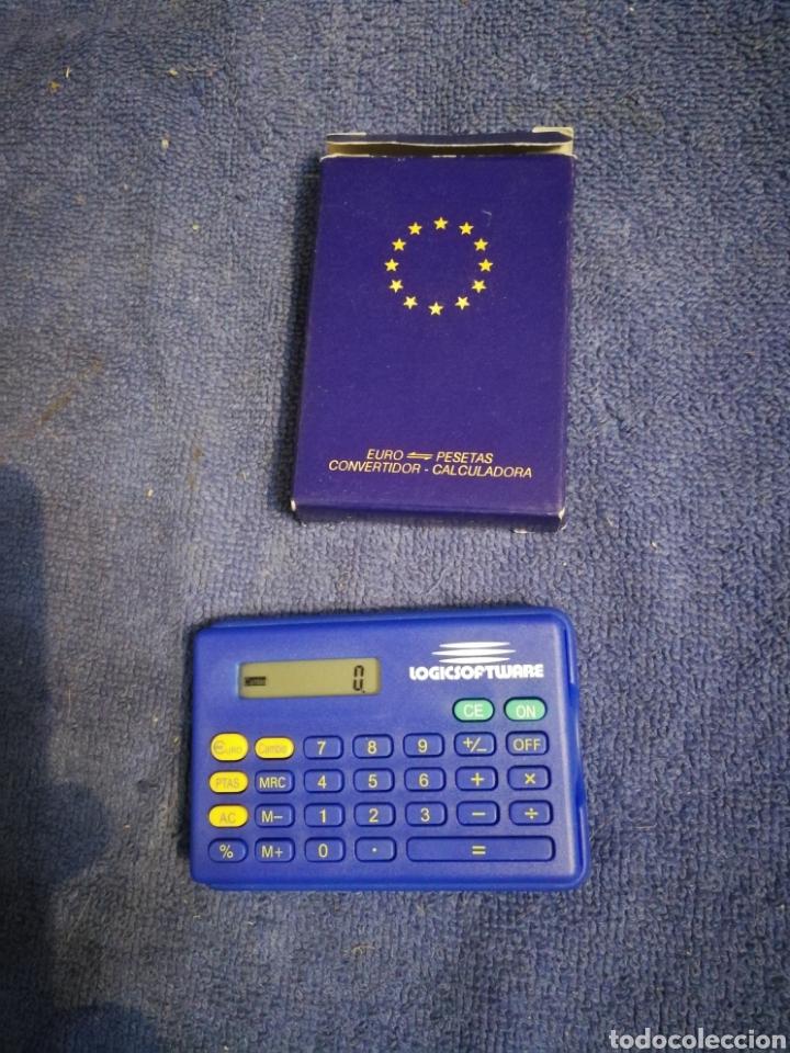 CALCULADORA CONVERSOR EUROS PESETAS. ESTA NUEVA (Antigüedades - Técnicas - Aparatos de Cálculo - Calculadoras Antiguas)