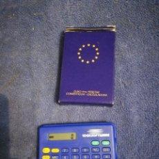 Antigüedades: CALCULADORA CONVERSOR EUROS PESETAS. ESTA NUEVA. Lote 195299031