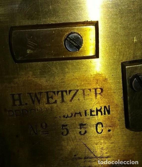 Antigüedades: Telégrafo centenario. Receptor morse. Impresionante aparato. Incluye su pulsador original. - Foto 6 - 195304433