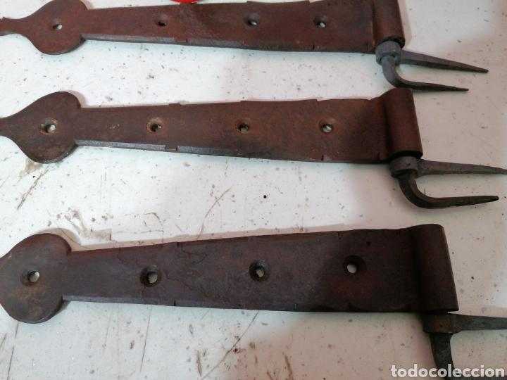 Antigüedades: Bisagras de forja para puertas - Foto 3 - 195308650