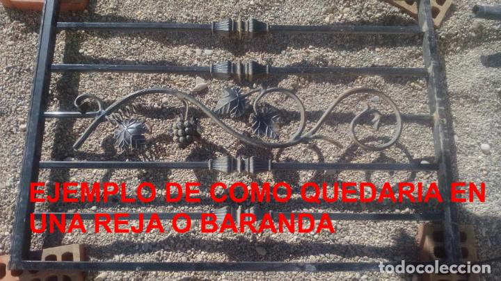 Antigüedades: LOTE DE 6 ELEMENTOS DE HIERRO DECORATIVO PARA VENTANAS o BARANDAS - Foto 5 - 195309868