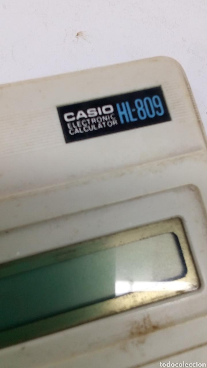 Antigüedades: Calculadora Casio HL 809 - Foto 3 - 195310151