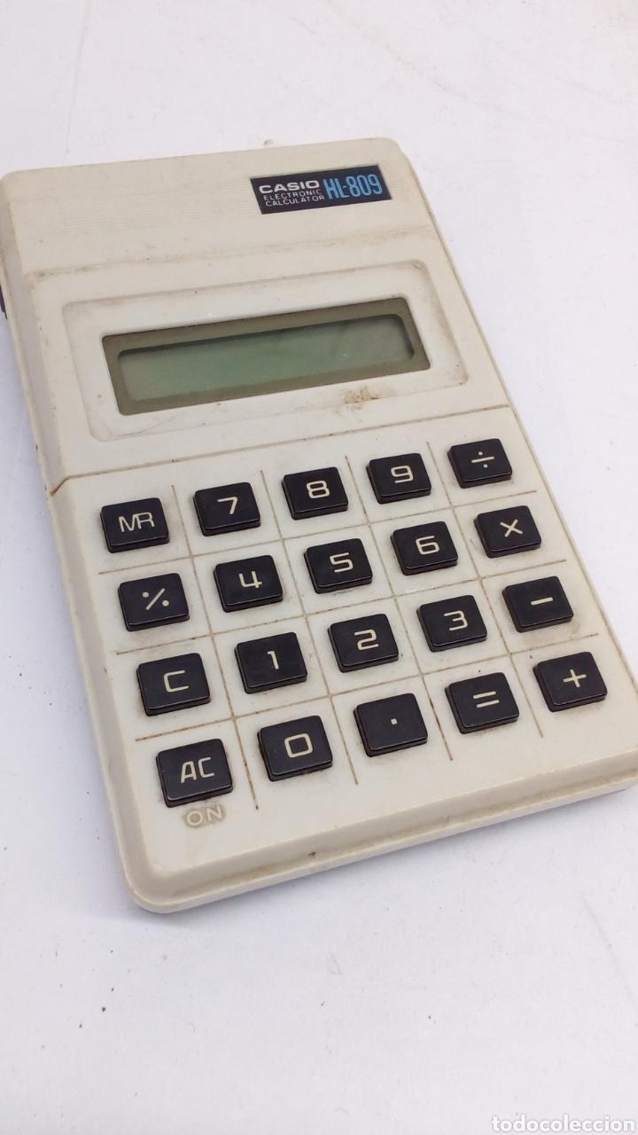 CALCULADORA CASIO HL 809 (Antigüedades - Técnicas - Aparatos de Cálculo - Calculadoras Antiguas)