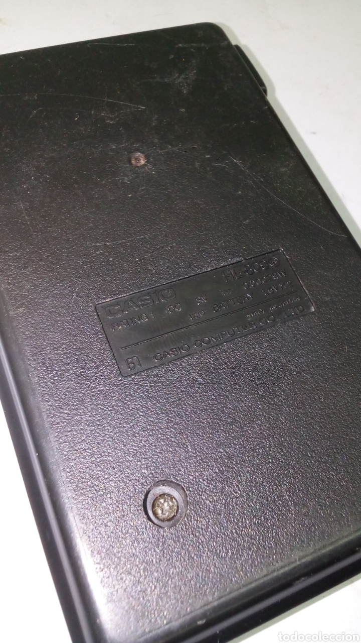 Antigüedades: Calculadora Casio HL 809 - Foto 2 - 195310151