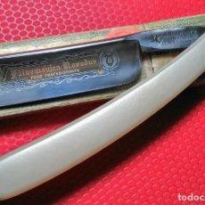 Antigüedades: NOVODUR PARA PROFESIONALES FILARMONICA 14, CAJA ORIGINAL. NAVAJA AFEITAR STRAIGHT RAZOR, RASOIO. Lote 195310892
