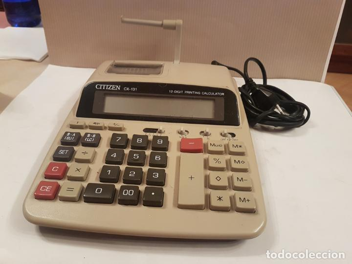 Antigüedades: antigua maquina calculadora citizen CX-131 funcionando muy buen estado ver fotos - Foto 2 - 195315881