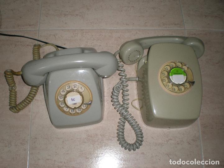TELÉFONOS MUY ANTIGUOS,LOTE,DE PARED Y DE MESA,BUEN ESTADO. (Antigüedades - Técnicas - Teléfonos Antiguos)