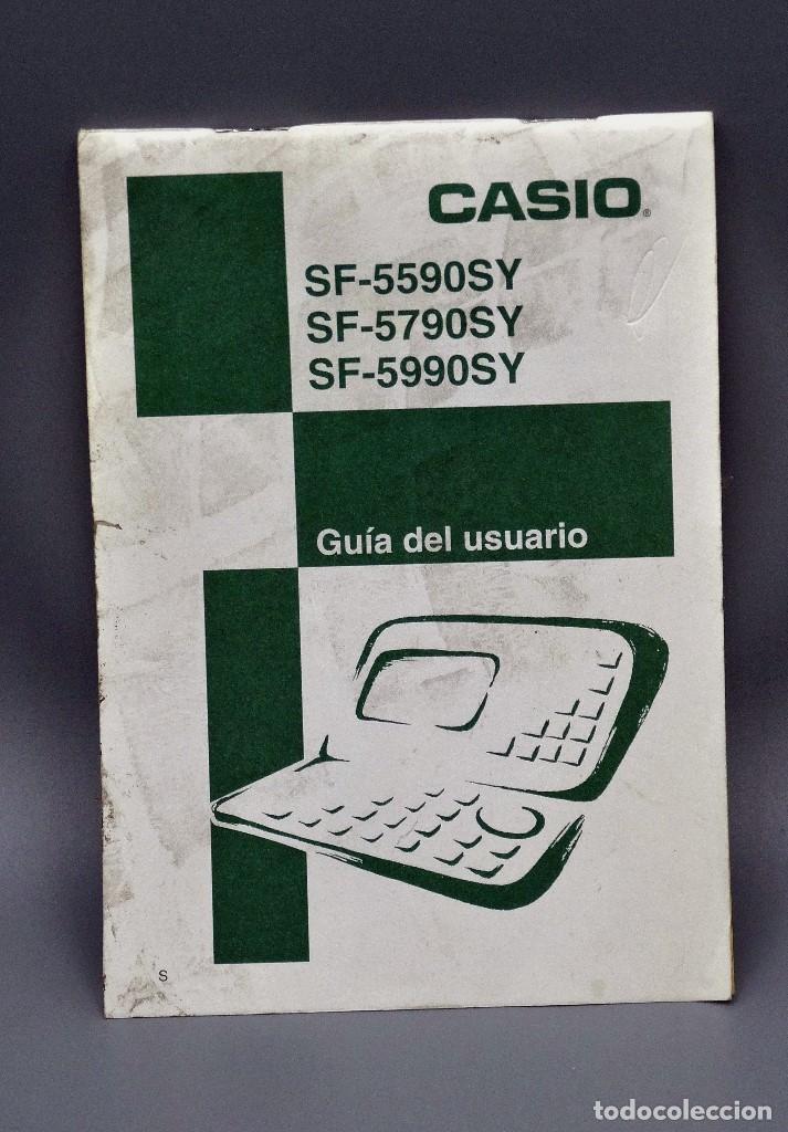 MANUAL CASIO SF-5590Y GUIA DEL USARIO (Antigüedades - Técnicas - Aparatos de Cálculo - Calculadoras Antiguas)