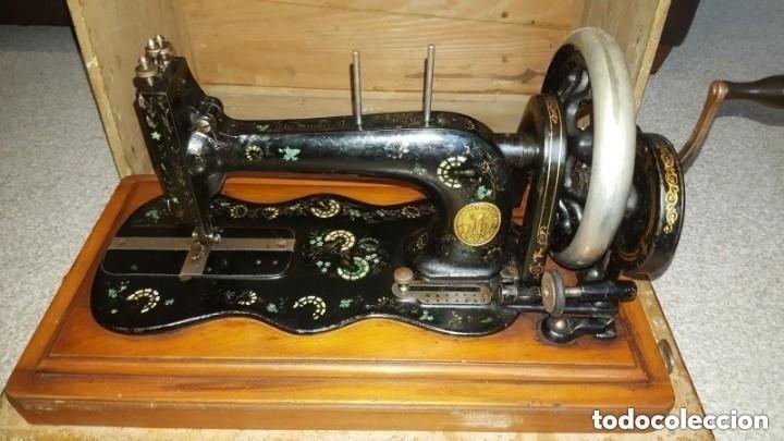 Antigüedades: Máquina de coser Singer antigua y rara modelo 12K Violin.año 1888 - clavel otomano - Foto 3 - 195338201