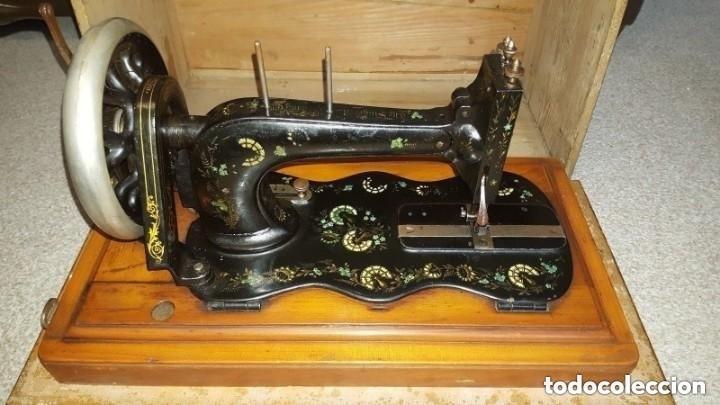 Antigüedades: Máquina de coser Singer antigua y rara modelo 12K Violin.año 1888 - clavel otomano - Foto 5 - 195338201