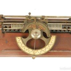 Antigüedades: MAQUINA DE ESCRIBIR WORLD Nº1 AÑO 1886 TYPEWRITER SCHREIBMASCHINE. Lote 195340502