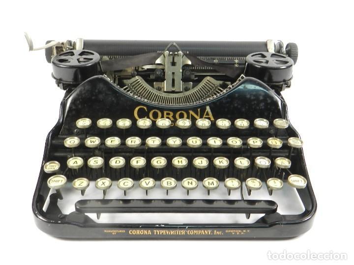 Antigüedades: MAQUINA DE ESCRIBIR CORONA Nº4 AÑO 1932 TYPEWRITER SCHREIBMASCHINE - Foto 3 - 195341130