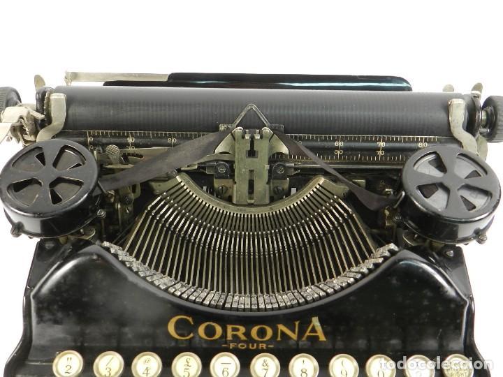 Antigüedades: MAQUINA DE ESCRIBIR CORONA Nº4 AÑO 1932 TYPEWRITER SCHREIBMASCHINE - Foto 5 - 195341130