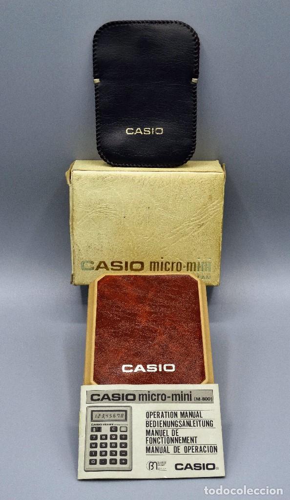 CALCULADORA CASIO MICRO-MINI M800 AÑO 1976 (Antigüedades - Técnicas - Aparatos de Cálculo - Calculadoras Antiguas)