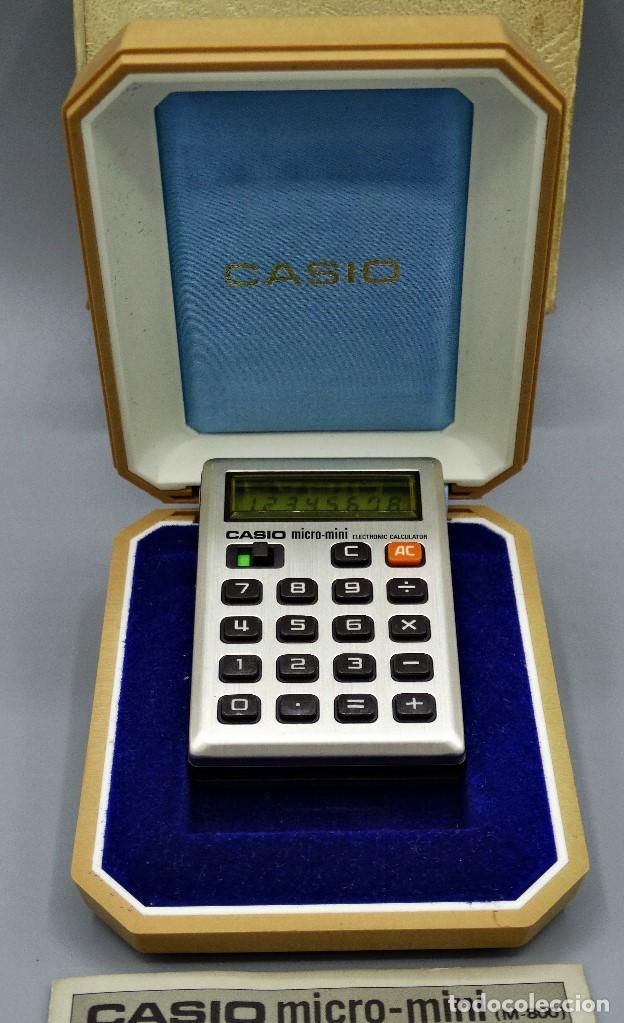 Antigüedades: Calculadora Casio micro-mini M800 año 1976 - Foto 2 - 195341812