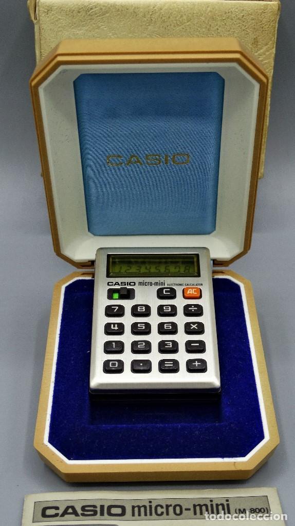 Antigüedades: Calculadora Casio micro-mini M800 año 1976 - Foto 3 - 195341812
