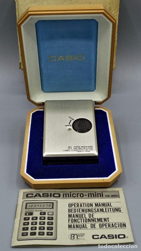 Antigüedades: Calculadora Casio micro-mini M800 año 1976 - Foto 4 - 195341812