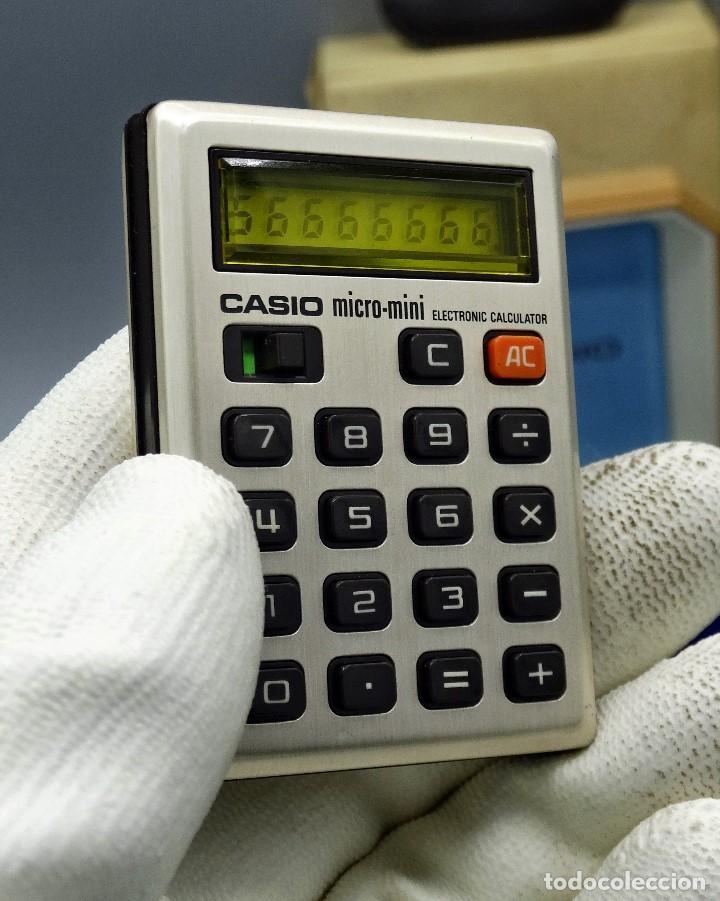 Antigüedades: Calculadora Casio micro-mini M800 año 1976 - Foto 5 - 195341812
