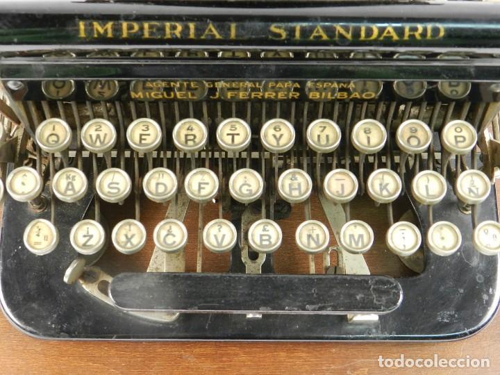 Antigüedades: MAQUINA DE ESCRIBIR IMPERIAL D AÑO 1919 TECLADO ESPAÑOL TYPEWRITER - Foto 3 - 195342165