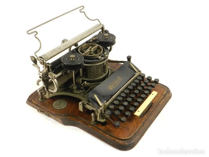 Antigüedades: MAQUINA DE ESCRIBIR HAMMOND Nº2 AÑO 1895 TYPEWRITER SCHREIBMASCHINE - Foto 8 - 195342873