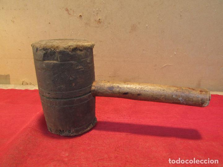 MARTILLO MAZO DE TONELERO EN MADERA DE OLIVO . ANTIGUO (Antigüedades - Técnicas - Herramientas Profesionales - Carpintería )