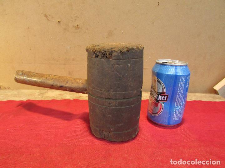 Antigüedades: Martillo mazo de tonelero en madera de olivo . Antiguo - Foto 4 - 195356757