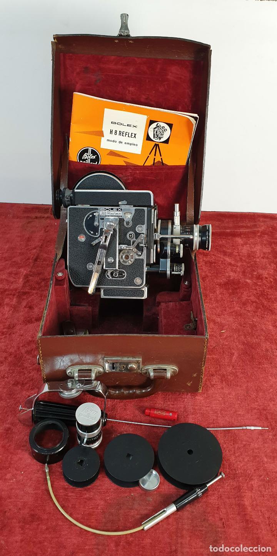 CAMARA FILMADORA BOLEX PAILLARD. H8 REFLEX. MALETA ORIGINAL. SUIZA. CIRCA 1950 (Antigüedades - Técnicas - Aparatos de Cine Antiguo - Cámaras de Super 8 mm Antiguas)
