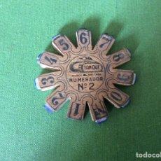 Antigüedades: ANTIGUO NUMERADOR DE IMPRENTA MARCA TANQUE NÚMERO 2. Lote 195370670