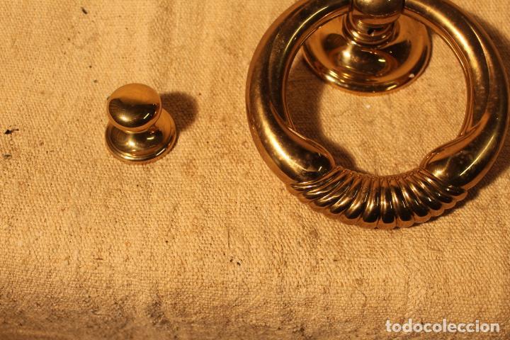 Antigüedades: tirador picaporte aldaba de bronce - Foto 5 - 195403290