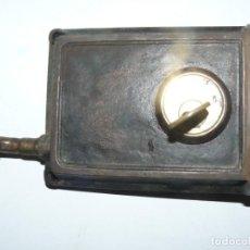 Antigüedades: ANTIGUA CERRADURA MACIZA DE BRONCE MARCA - CMC - CON LLAVE FUNCIONA. Lote 195411435