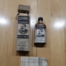 Antigüedades: BOTELLITA DE LINIMENTO SLOAN. Lote 195420486