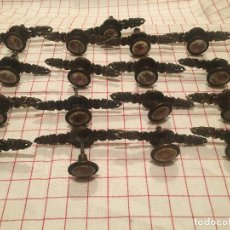 Antigüedades: LOTE 17 TIRADORES DE MUEBLES. . Lote 195422847