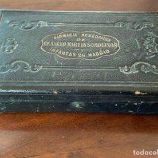Antigüedades: EXCEPCIONAL ANTIGUO BOTIQUIN HOMEOPATICO, PIEZA DE MUSEO, CESAREO MARTIN SOMOLINOS, MADRID. Lote 195456886
