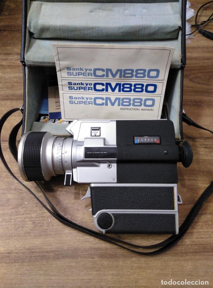 Antigüedades: mff.- camara sankyo super cm-880.- manual de instrucciones en ingles.- maletin para llevar.- - Foto 2 - 195467077