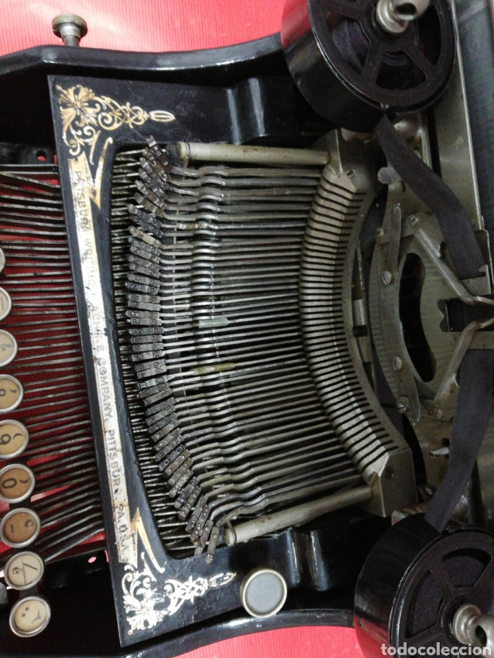 Antigüedades: Máquina de escribir Pittsburg Visible Número 12. - Foto 2 - 195474380