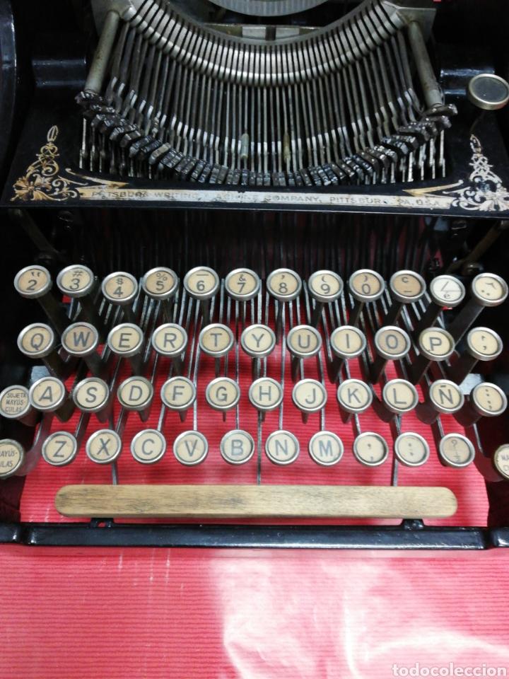 Antigüedades: Máquina de escribir Pittsburg Visible Número 12. - Foto 3 - 195474380