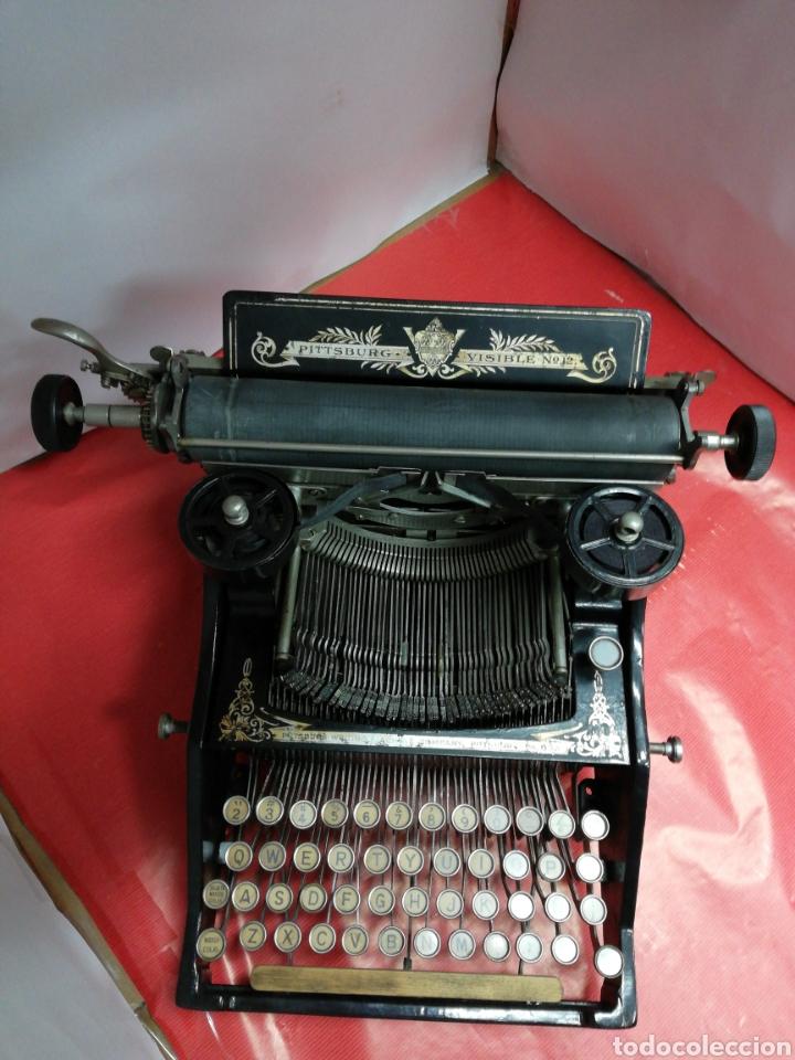 Antigüedades: Máquina de escribir Pittsburg Visible Número 12. - Foto 7 - 195474380