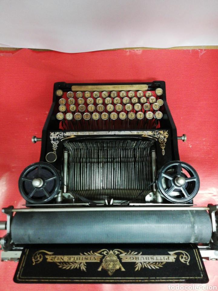 Antigüedades: Máquina de escribir Pittsburg Visible Número 12. - Foto 9 - 195474380