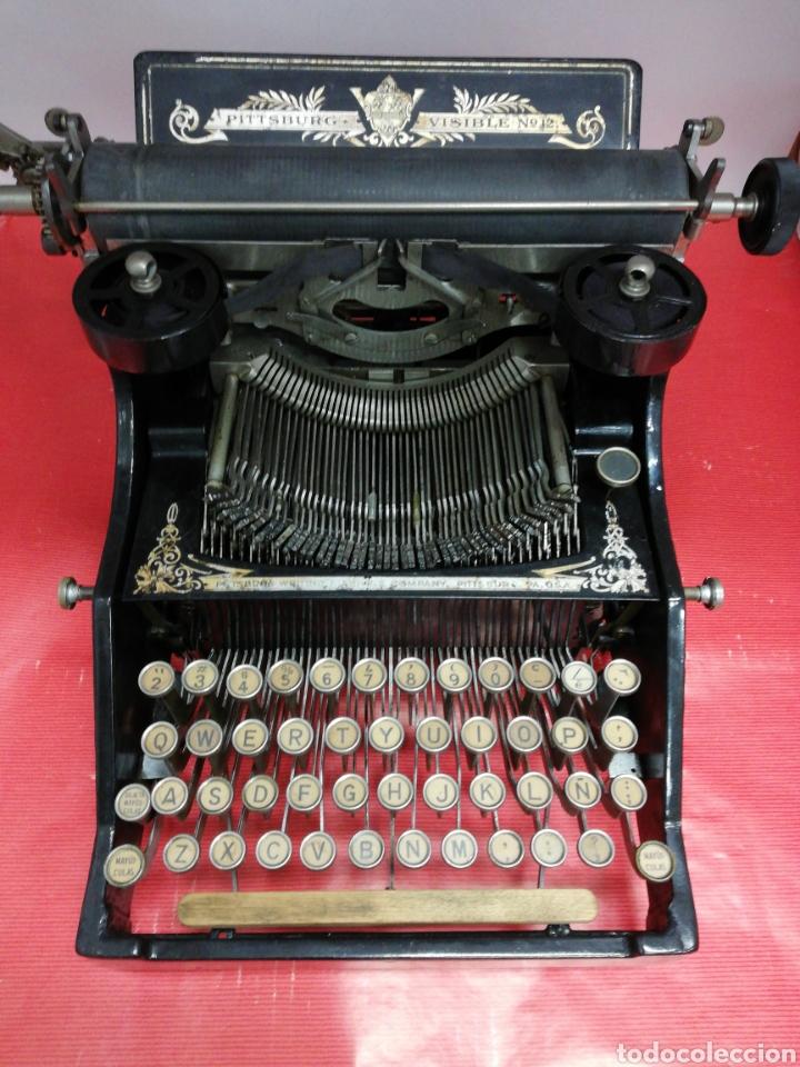 MÁQUINA DE ESCRIBIR PITTSBURG VISIBLE NÚMERO 12. (Antigüedades - Técnicas - Máquinas de Escribir Antiguas - Otras)