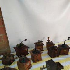 Antigüedades: LOTAZO DE MOLINILLOS ANTIGUOS DE CAFÉ. Lote 195474658