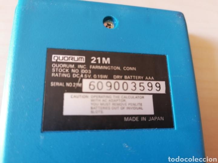 Antigüedades: Antigua y muy rara calculadora QUORUM 21 M - Made in Japan - Foto 4 - 195482430