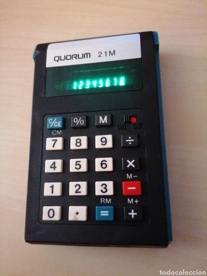 Antigüedades: Antigua y muy rara calculadora QUORUM 21 M - Made in Japan - Foto 2 - 195482430