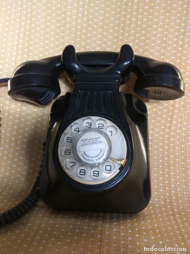 TELÉFONO ANTIGUO DE PARED DE BAQUELITA, AÑOS 50 (Antigüedades - Técnicas - Teléfonos Antiguos)